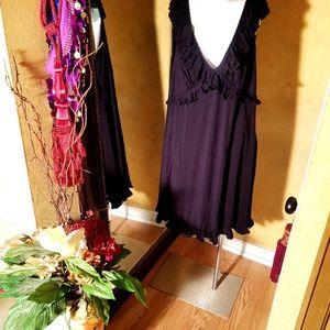 Cynthia Rowley black women dress plus size 2x